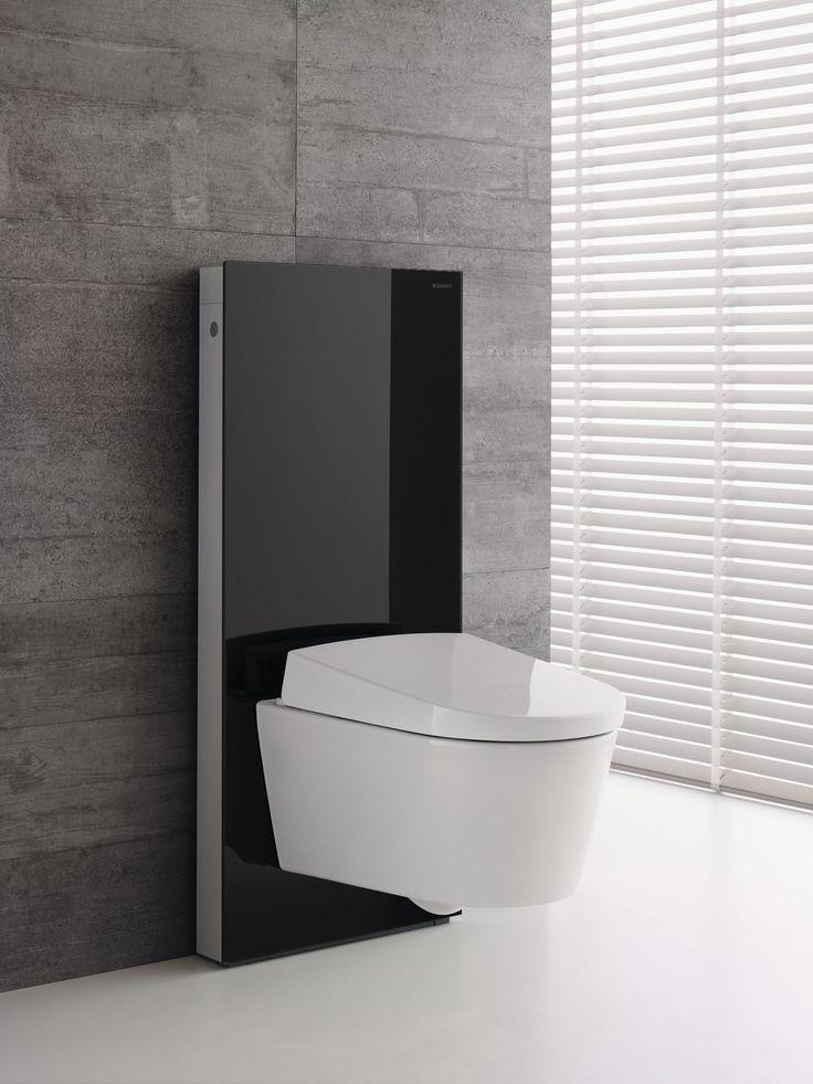 Geberit Monolith rezervuar modülü hem küçük hem büyük banyolara mükemmel bir görünüm kazandırır ve üzerindeki klozete şık bir vurgu yapar.
