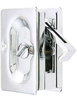 Premium Quality Mid-Century Pocket Door Privacy Lock Set | House of Antique Hardware