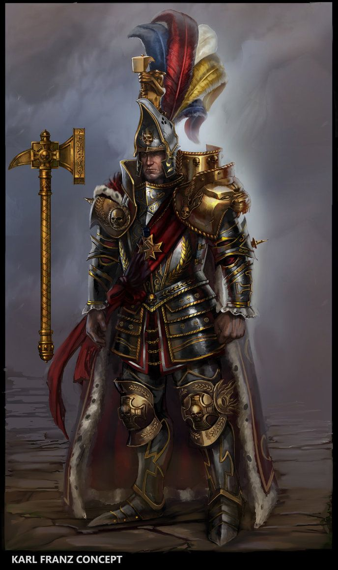 Total War: Warhammer - Karl Franz by rineart(Rinehart Appiah). DeviantART    Emperor Karl Franz, Prince of Altdorf and Elector Count of Reikland is the current Emperor and is said by many to be the greatest statesman in the history of the Old World.