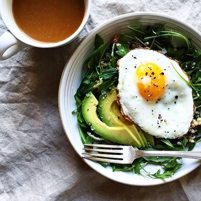 A breakfast salad that'll bring you back to life if you had a little too much wine last night.