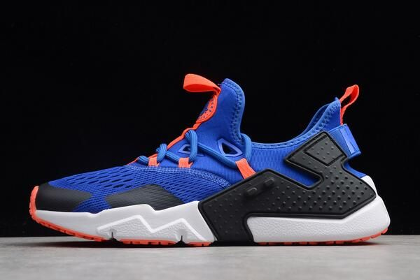 Men s Nike Air Huarache Drift BR Racer Blue Black-White AO1133-400 ... f67ea7583