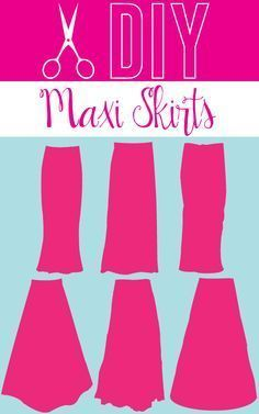 DIY maxi skirts you must try!                                                                                                                                                      More
