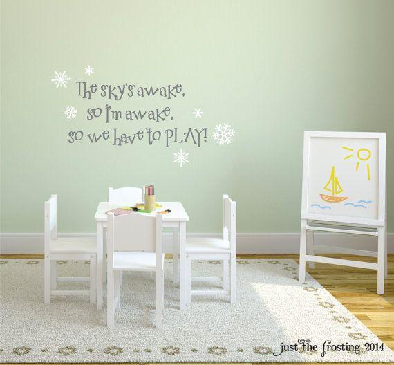 Frozen Wall Decal , Frozen Children's Room