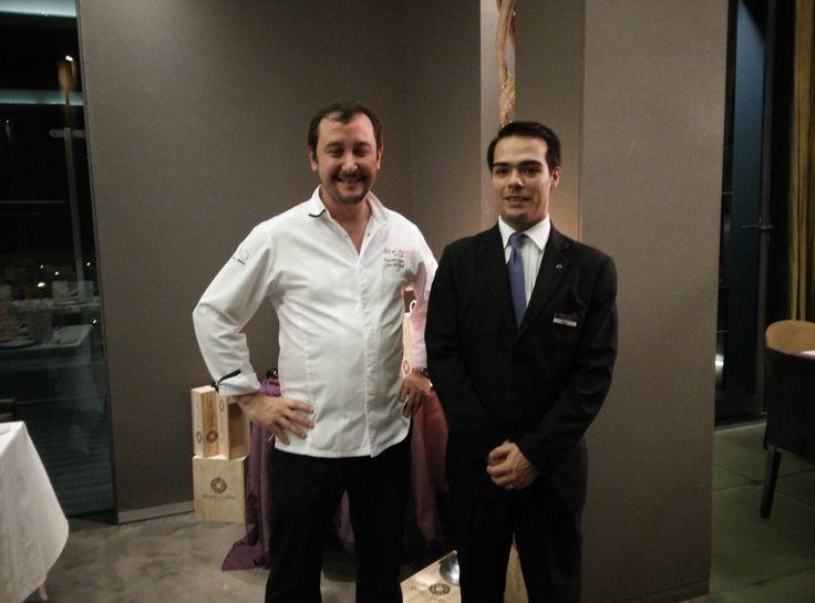 Chef Thomas Faudry and Fábio, at Uva Restaurant