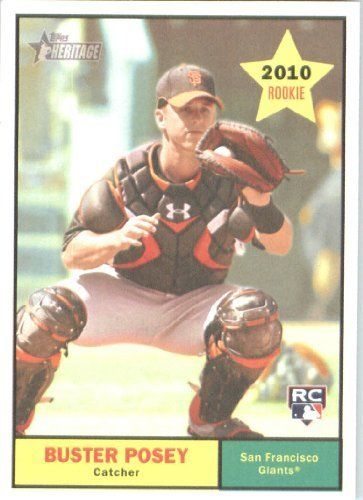 2010 Topps Heritage Baseball Card # 114 Buster Posey RC (RC - Rookie Card) San Francisco Giants - Mint Condition - MLB Trading Card Shipped In Protective ScrewDown Display Case! by Topps. $11.99