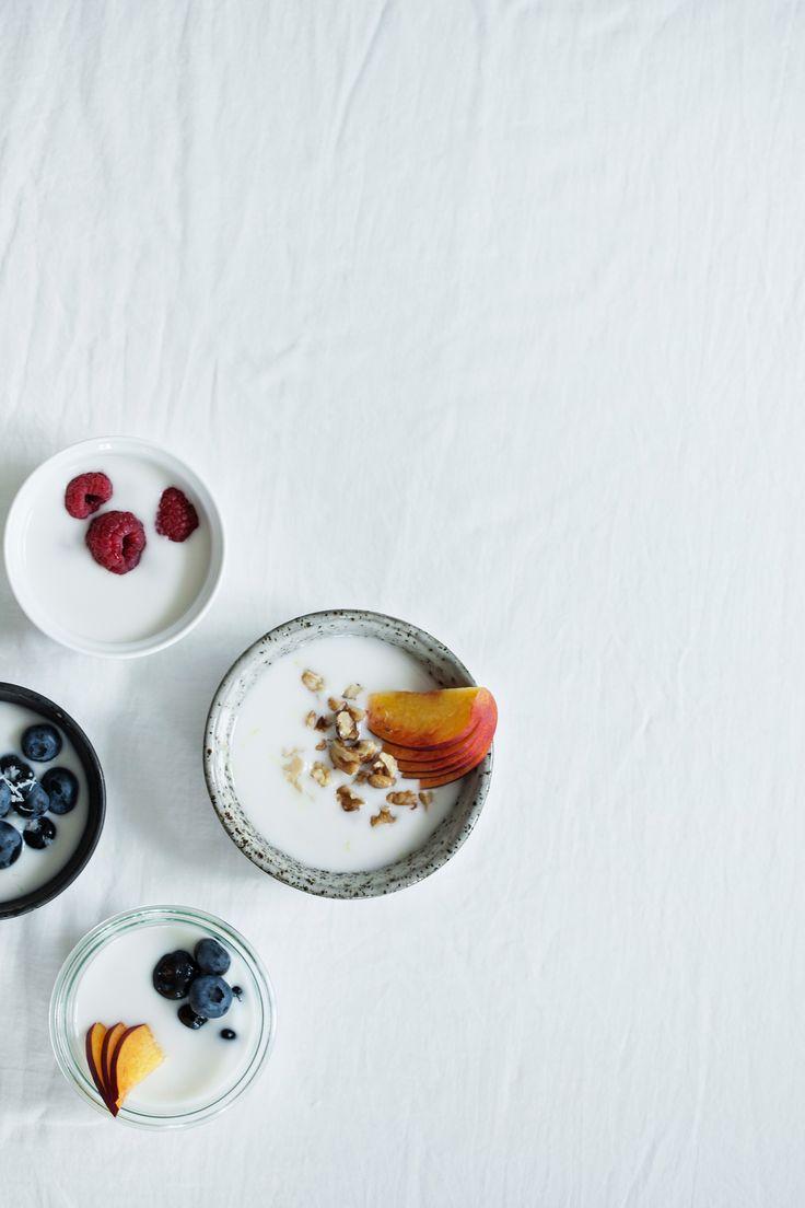 homemade coconut yogurt, (dairy and sugar-free).