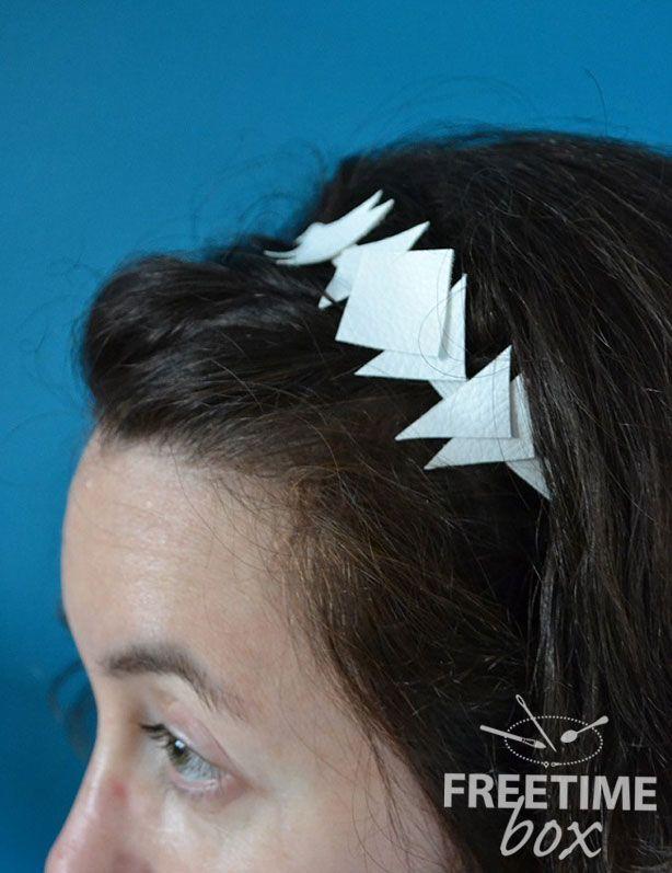 Tuto DIY Headband simili cuir