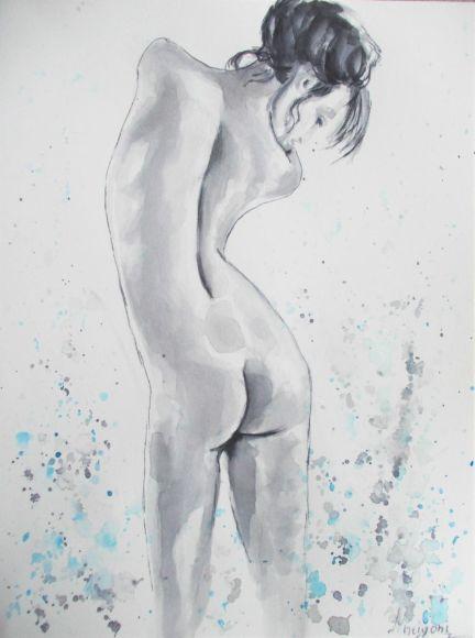 Nude 5-Original Watercolor Painting