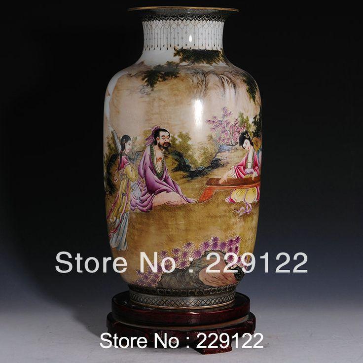 Китайский ручной фарфоровая ваза современный семейному вырос керамическая ваза большие вазы напольные, принадлежащий категории Вазы и относящийся к Для дома и сада на сайте AliExpress.com   Alibaba Group