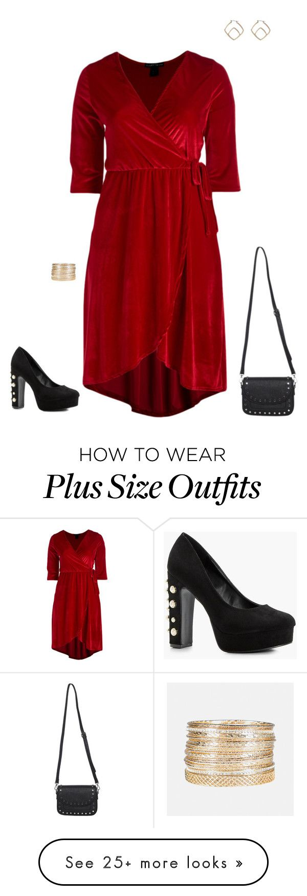 """""""Plus Size"""" by jessiemt2 on Polyvore featuring Avenue, Boohoo and plus size dresses"""