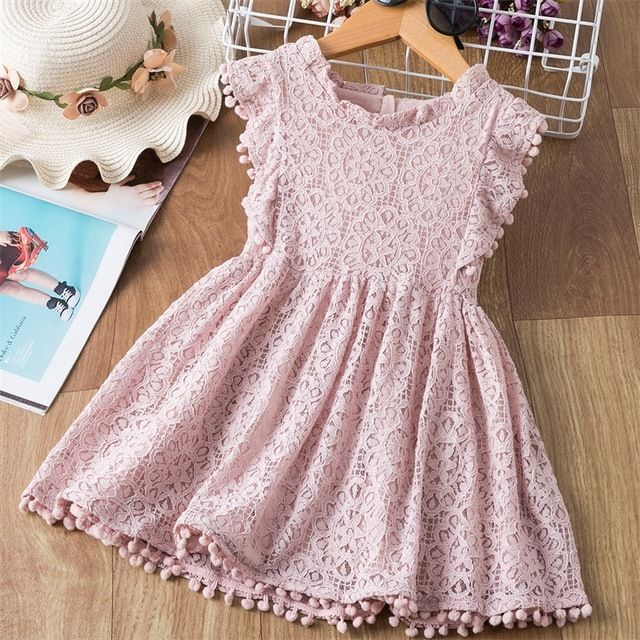 Kids Dress Baby Girls Princess Party Flower 3-8 Years Summer Casual Sleeveless