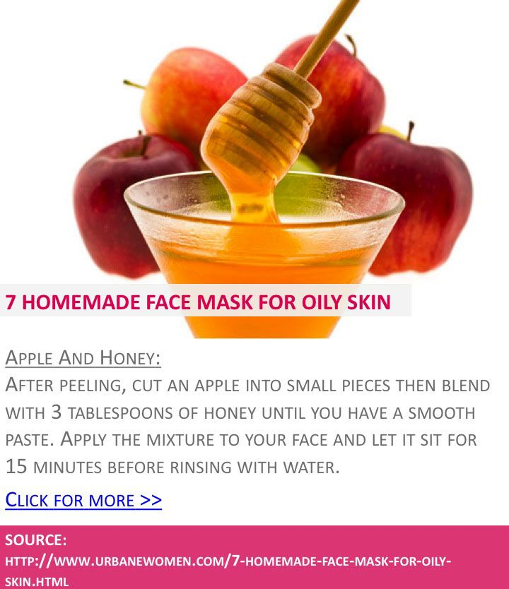 7 homemade face mask for oily skin - Apple and honey - Click for more: http://www.urbanewomen.com/7-homemade-face-mask-for-oily-skin.html