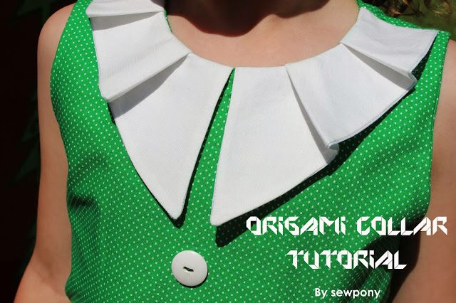 How to make: An origami collar - sewpony