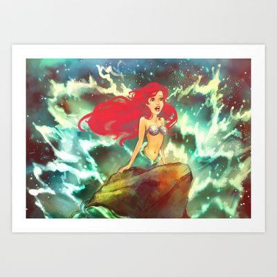 The Mermaid Art Print by Alice X. Zhang