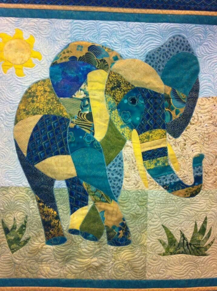 elephant quilt...this kind of quilting fascinates me