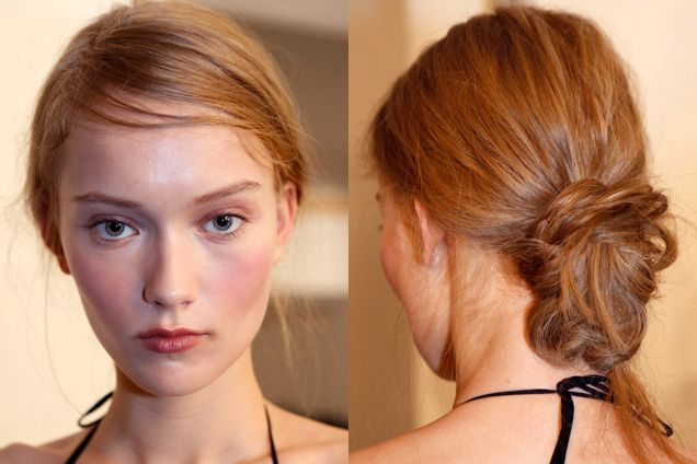 side swept bun- 10 of the hottest spring hairstyles to try