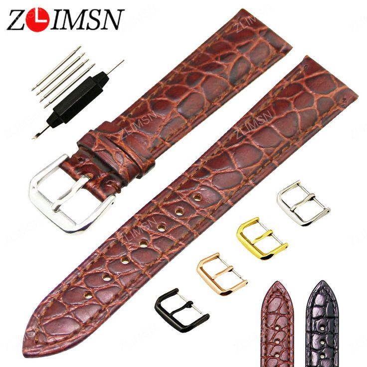 $7.09 (Buy here: https://alitems.com/g/1e8d114494ebda23ff8b16525dc3e8/?i=5&ulp=https%3A%2F%2Fwww.aliexpress.com%2Fitem%2FWatchband-18mm-20mm-Brown-Black-Crocodile-Grain-Genuine-Leather-Watch-Strap-Pin-Buckle-Men-Women-Digital%2F32788936077.html ) Watchband Genuine Leather Watch Strap 18mm 20mm Brown Black Crocodile Grain Pin Buckle Men Women Digital Wristwatch Bracelet H78 for just $7.09