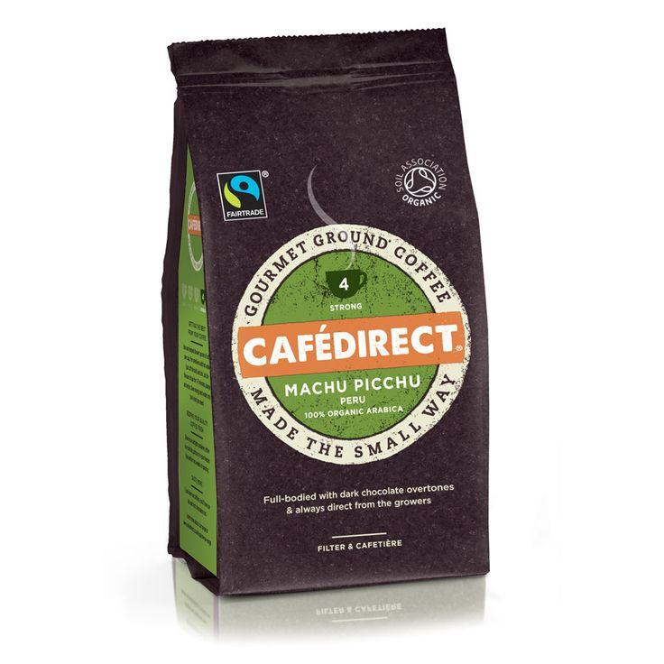 Cafedirect machu picchu organic roast and ground coffee