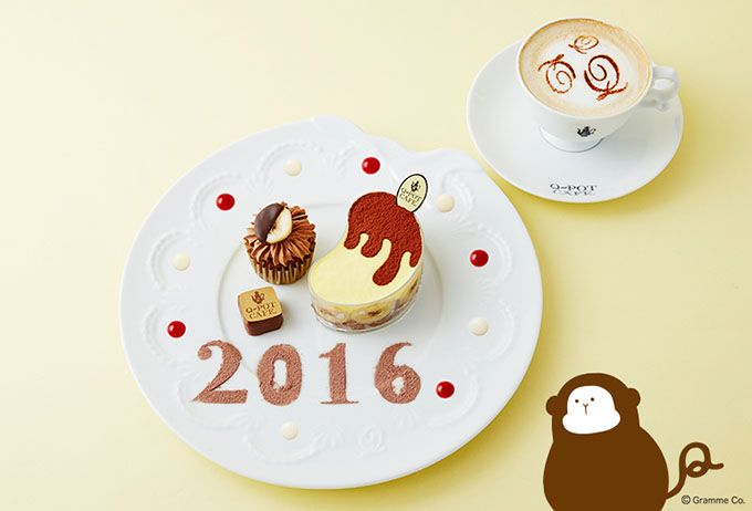 ※写真のドリンク(カフェラテアート)は+50円(税込)  Q-pot.(キューポット)が手がけるカフェ、Q-pot CAFE.(キューポットカフェ)から新年限定メニュー「HAPPY NEW YEA...