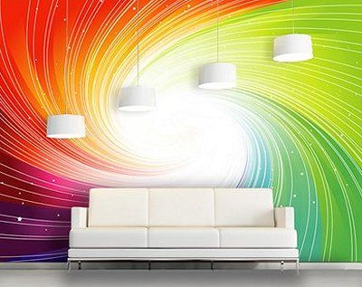 I LOVE this wall!!! ... Decorating theme bedrooms - Maries Manor: rainbow theme bedrooms - rainbow bedroom decorating ideas