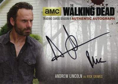 2016 Cryptozoic The Walking Dead S4P2 Andrew Lincoln Auto