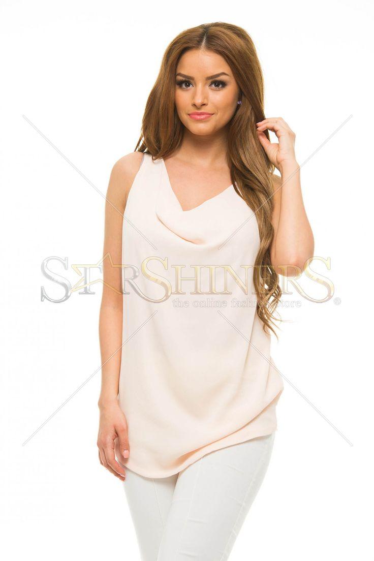 Daniella Cristea Vanity Peach Top Shirt