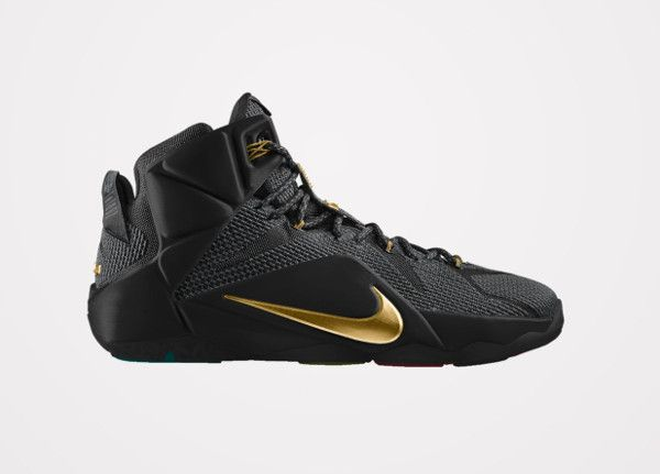 Nike Lebron 12 ID Black Gold