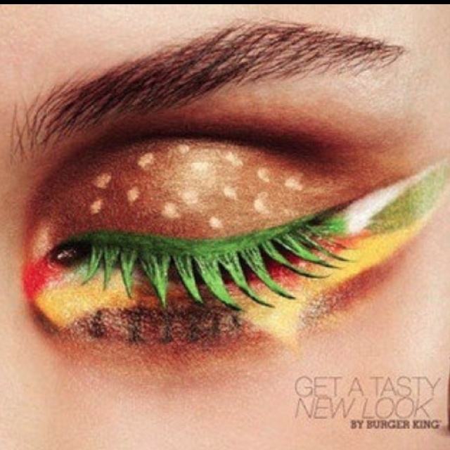 Eww.. maybe if you were dressing up like a hotdog. fast food make up.. who comes up with this stuff?