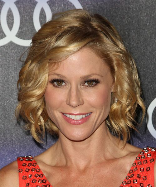 Your hair looks like it's gonna end up something like Julie Bowen (Claire Dunphy in Modern Family). Description from naturallycurly.com. I searched for this on bing.com/images
