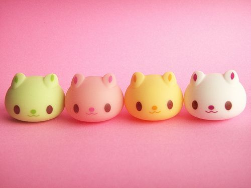 Kawaii cat Character Usadango Tiny Mascot Doll Japanese Toy by Kawaii Japan, via Flickr