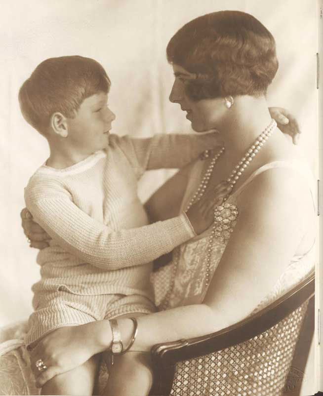 Pss Helena of Romania, nee pss of Greece with son, Current King Mihai I.  1920s.