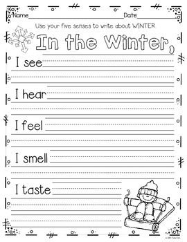 WRITING ACTIVITIES AND MORE: DECEMBER, JANUARY, & FEBRUARY~K TO GRADE 1 - TeachersPayTeachers.com