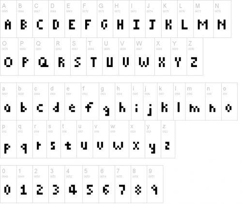 Pixel Font, Hama Beads Design, Pixel