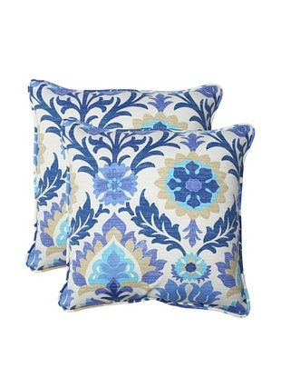 38% OFF Pillow Perfect Set of 2 Outdoor Santa Maria Throw Pillows, Azure
