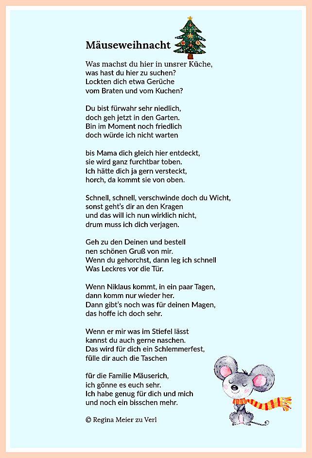 Mauseweihnacht Weihnachten Geschichte Gedicht Weihnachten Weihnachten Text