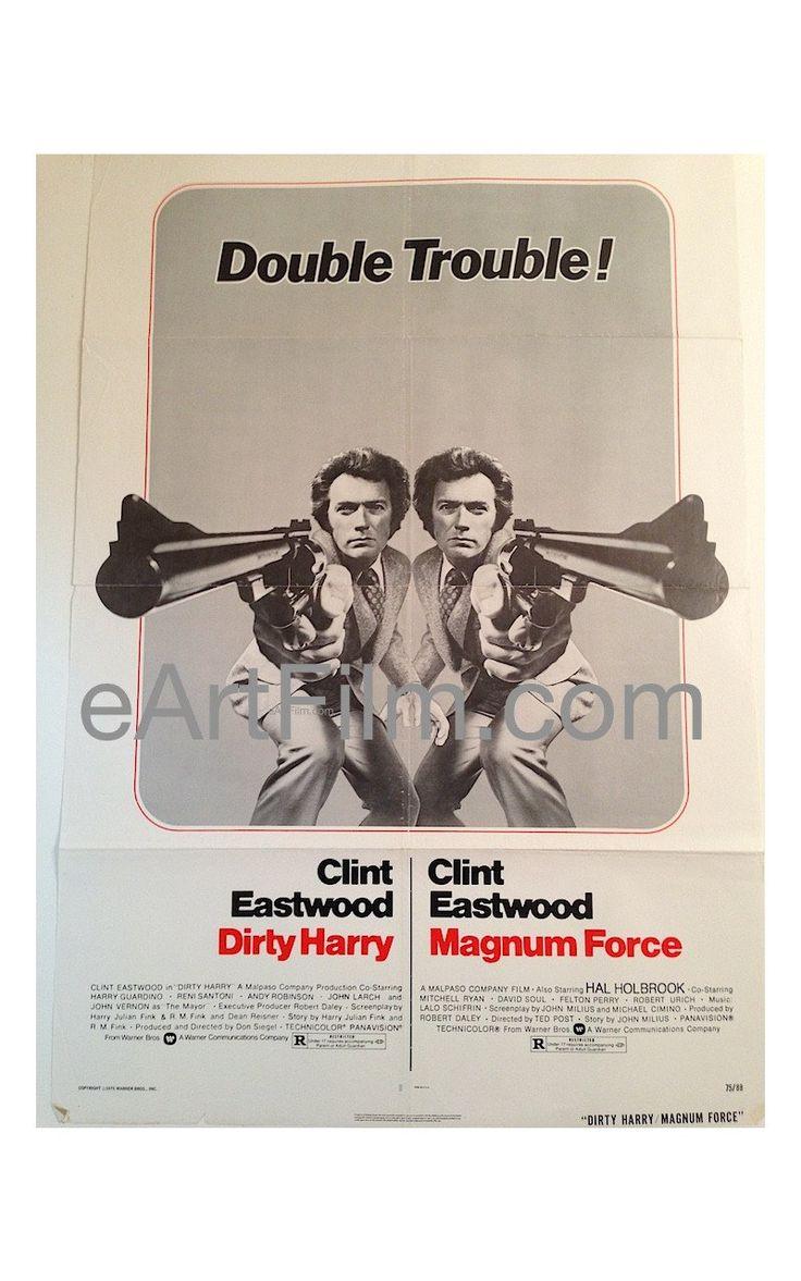 Dirty Harry_Magnum Force R1975 27x41 Original U.S One Sheet