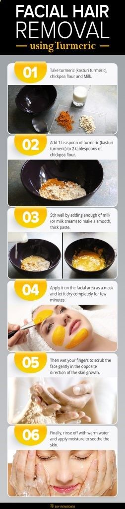 Turmeric For Facial Hair Removal #Method7 Turmeric works effectively in slowing down the hair growth and thins the hair. Regular usage of turmeric will help you to get relief from facial hair. #Turmeric #FaceFacial #HairRemoval #DIY