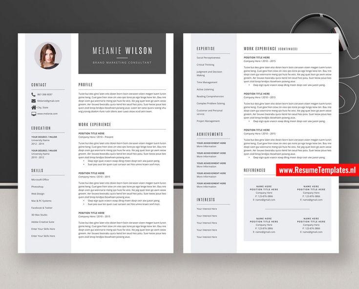 2 page resume templates 2021 resume template resume