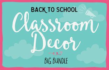 This bundle will add flare and style to your classroom! With 2 colour options…
