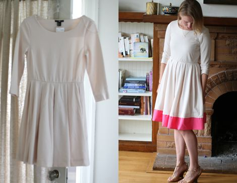 Refashioned dress.