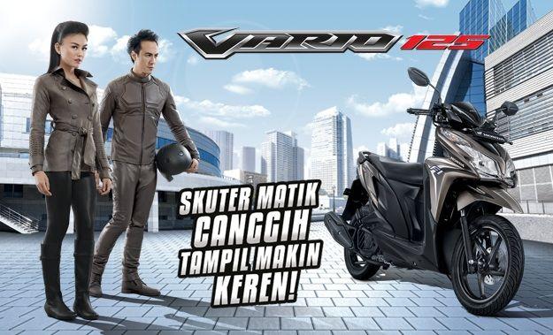 #Honda Vario Techno 125 Skuter Matik keren Harga Rp. 16.400.000,-