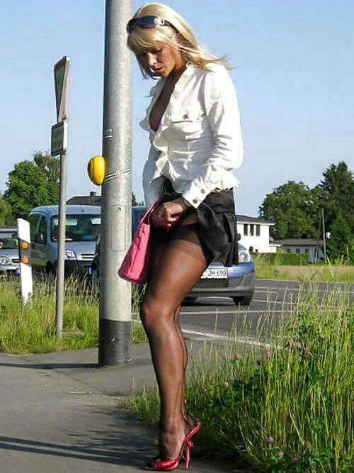 Something also outdoors in pantyhose working 7649 necessary