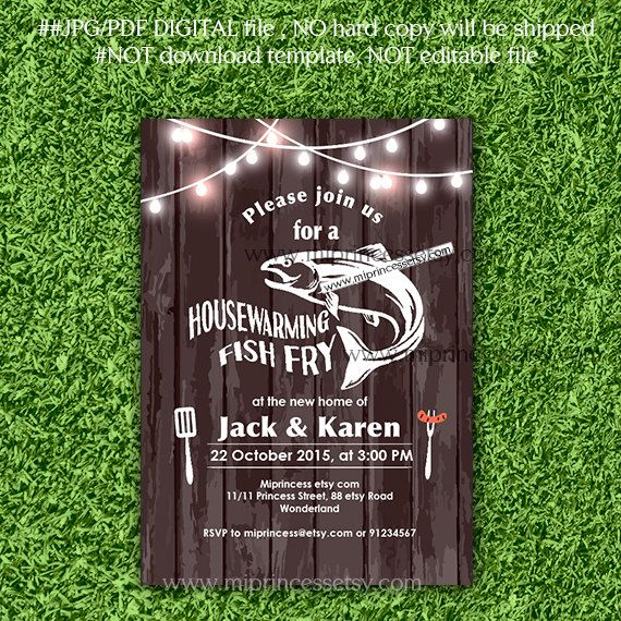 Fish Fry party Housewarming Invitation Housewarming by miprincess