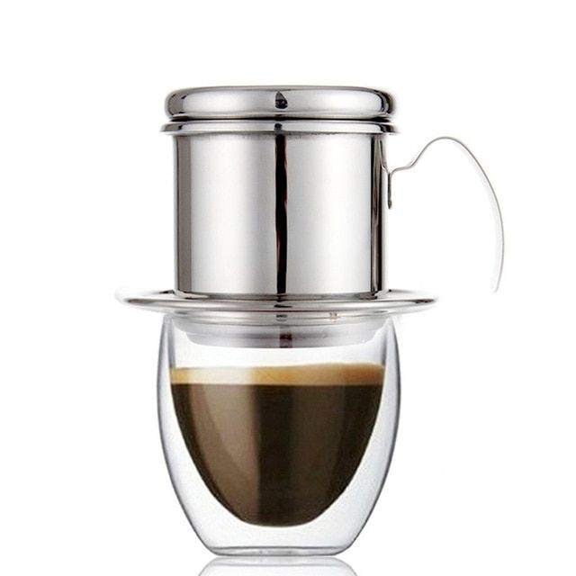 Rokene Coffee Filter Press Stainless Steel Vietnamese Coffee Filter Set Best Coffee Dripper For Home Kitchen O Coffee Filters Coffee Dripper Vietnamese Coffee
