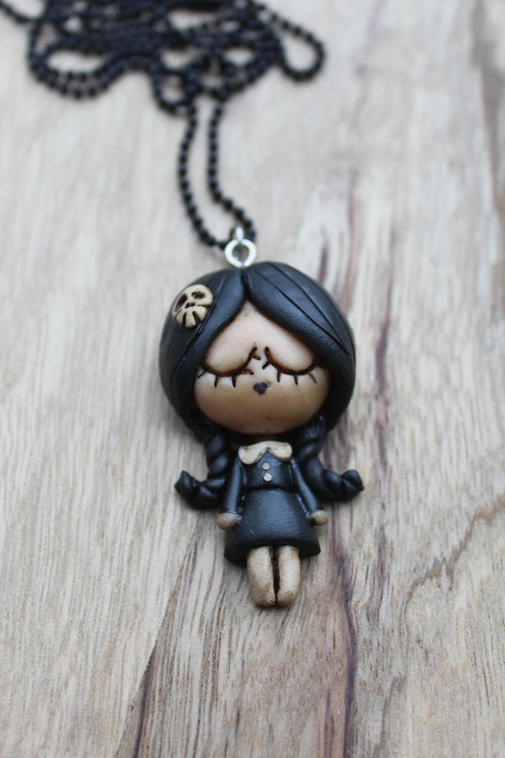 Wednesday Addams' necklace handmade, Mercoledì Addams. by PandiZenzeroShop on Etsy https://www.etsy.com/listing/223121803/wednesday-addams-necklace-handmade