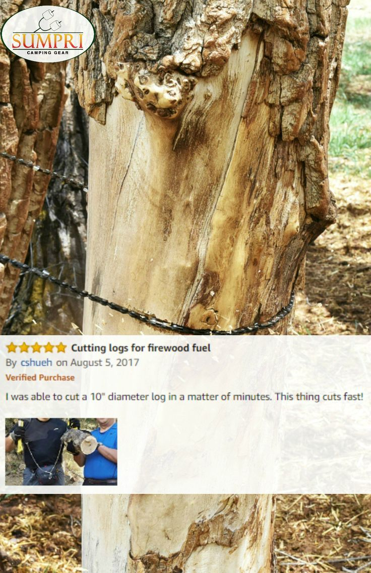 SUMPRI Pocket Camping Gear -  Pocket Chainsaw & Fire Starter Kit - 36 Inch Compact Hand Saw & Magnesium Spark Fire Rod -Best For Hiking, Survival & Emergency Equipment, Now on Amazon.com or Sumpri.com   #sumpri #pocket #chainsaw #camping #gear #fire #starter #rod #logs #garden #log #tree #boyscout #hiking