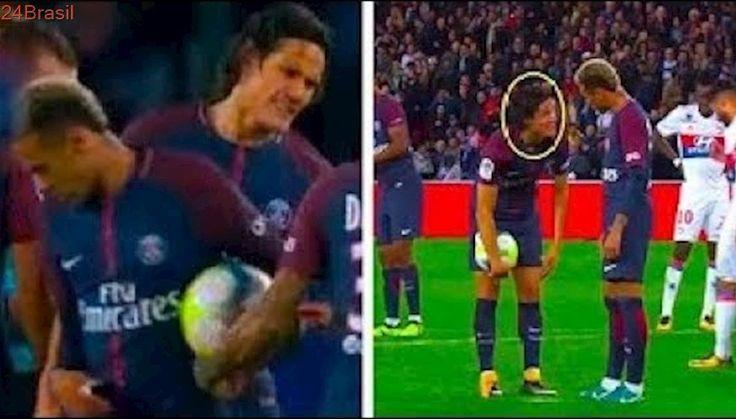 A Briga de Neymar e Cavani para Bater o Pênalti