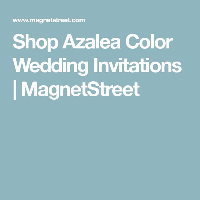 Shop Azalea Color Wedding Invitations | MagnetStreet