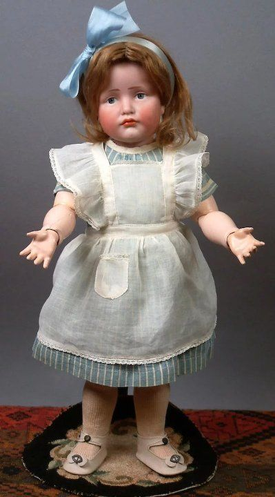 17 Kammer Amp Reinhardt 114 Gretchen Character Child Antique Doll German Character Dolls Antique Dolls Porcelain Doll Costume