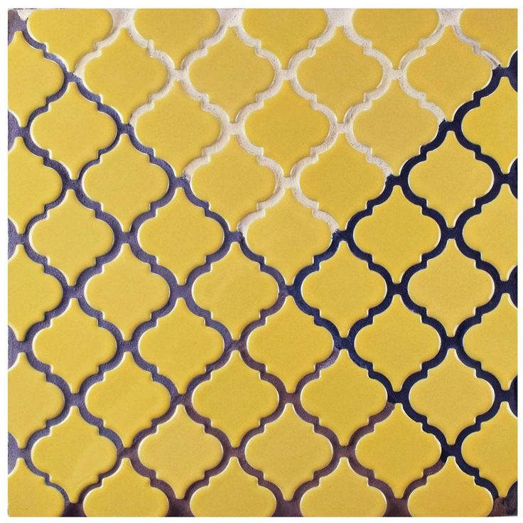 Merola Tile Hudson Tangier Vintage Yellow 12-3/8 in. x 12-1/2 in. x 5 mm Porcelain Mosaic Tile-FKOLTR06 - The Home Depot